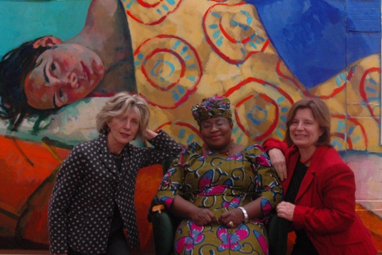 Xenia Hausner, Ngozi Okonjo-Iweala, ehemalige Finanz- und Außenministerin Nigerias, Dr. Edit Schlaffer, Founder and Executive Director of Women without Borders/SAVE